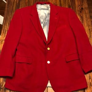 Jos. A. Banks Red Wool Jacket